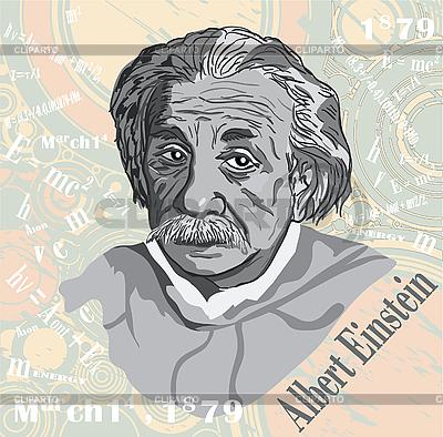 Einstein `s face | Klipart wektorowy |ID 3140203
