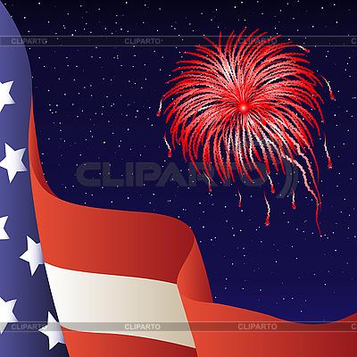 7 월 4 일. 미국 국기 | 벡터 클립 아트 |ID 3064145