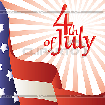 4th of July. American flag | Stock Vector Graphics |ID 3064147