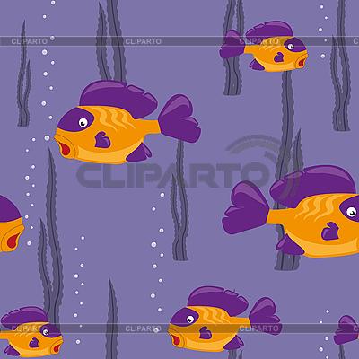 노란 물고기와 원활한 패턴 | 벡터 클립 아트 |ID 3064149