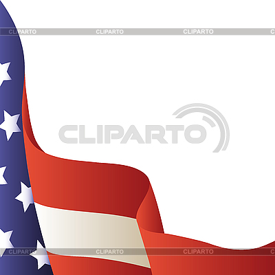 American flag | Klipart wektorowy |ID 3064167