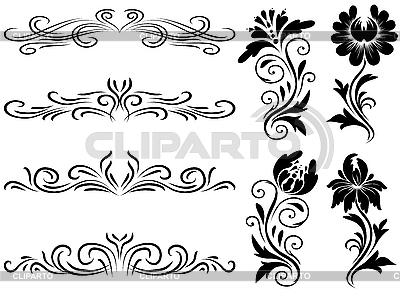 Poziome elementy dekoracji | Klipart wektorowy |ID 3064251