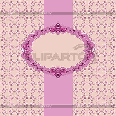Design for greeting card with frame | Stock Vector Graphics |ID 3064295