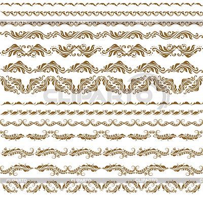 Горизонтальные элементы декора | Векторный клипарт |ID 3290519
