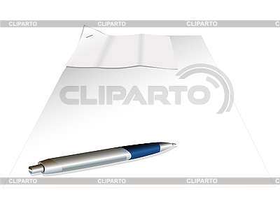 Sheets of paper and pen | Stock Vector Graphics |ID 3045577
