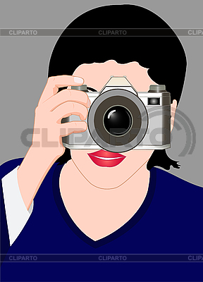 Girl with camera   Stock Vector Graphics  ID 3045591