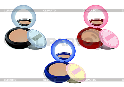 Three boxes of powder different colours | Stock Vector Graphics |ID 3054553