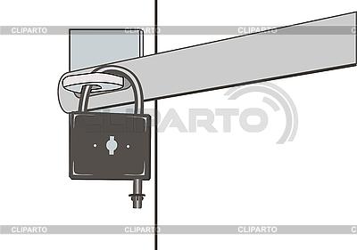 挂锁   向量插图  ID 3054586