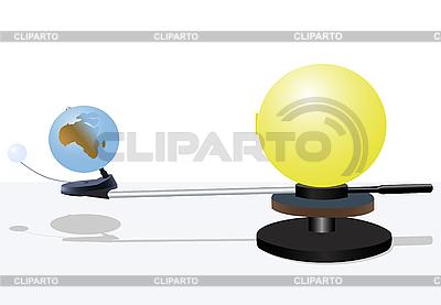 Sun and earth model   向量插图  ID 3064231