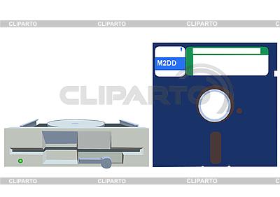 Old Floppy drive and Floppy disc | Klipart wektorowy |ID 3070588