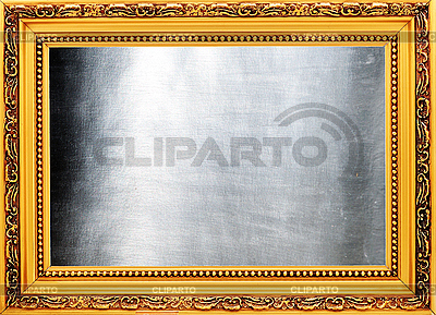Golden frame with silver metallic plate   High resolution stock photo  ID 3061570