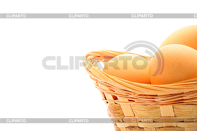 Basket with eggs | High resolution stock photo |ID 3061763