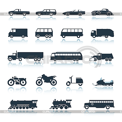Icons of vehicles | Stock Vector Graphics |ID 3039754