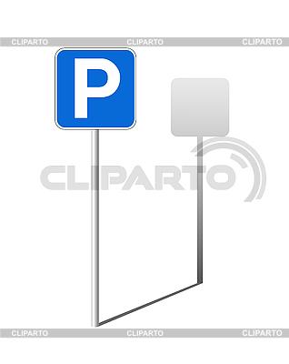 주차 교통 표지 | 벡터 클립 아트 |ID 3045371
