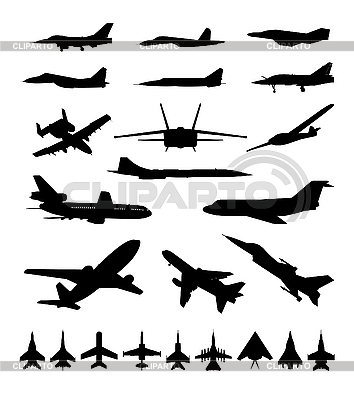 Silhouettes of planes | Stock Vector Graphics |ID 3045989