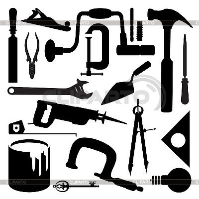 Tools silhouettes | Stock Vector Graphics |ID 3045993