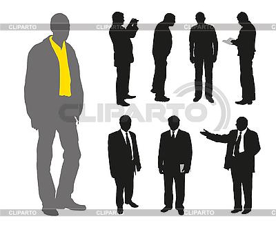 Silhouetten von Männern | Stock Vektorgrafik |ID 3056044