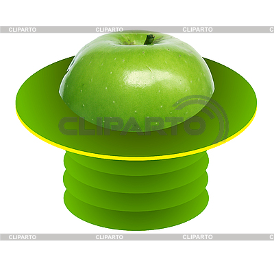 Green apple in green hat | High resolution stock photo |ID 3078081