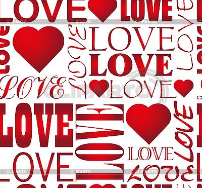 Seamless love heart pattern | Stock Vector Graphics |ID 3121525