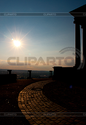 Sunset over the Württemberg mausoleum | High resolution stock photo |ID 3039864
