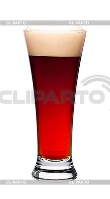 Szklanka ciemnego piwa na białym tle | Foto stockowe wysokiej rozdzielczości |ID 3040507