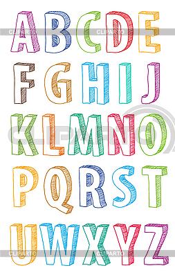 Litery ABC | Klipart wektorowy |ID 3050344