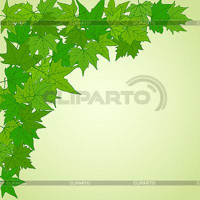 Natürliche Ecke mit grünen Blättern | Stock Vektorgrafik |ID 3050840