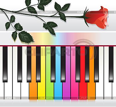 五彩钢琴 | 向量插图 |ID 3051041