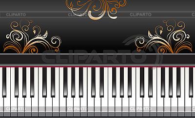 Piano con remolinos de oro | Ilustración vectorial de stock |ID 3051043
