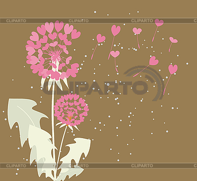 Dandelions with seeds of love   Stock Vector Graphics  ID 3051090