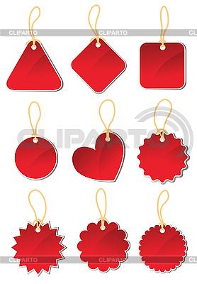 Zestaw czerwone etykiety | Klipart wektorowy |ID 3051120