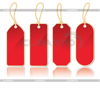 Set von roten Etiketten   Stock Vektorgrafik  ID 3051124