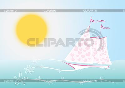 爱的风帆   向量插图  ID 3051126
