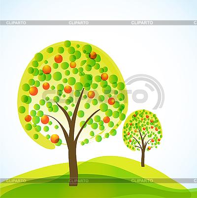 Bäume mit Früchten | Stock Vektorgrafik |ID 3051185