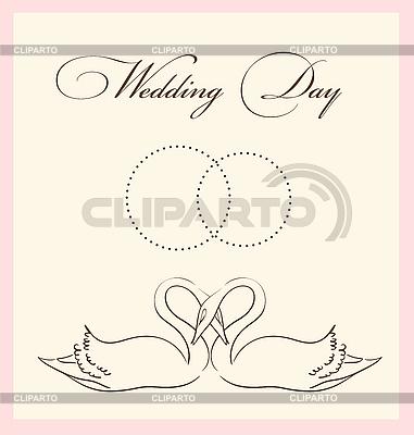 Свадебная открытка | Векторный клипарт |ID 3051199