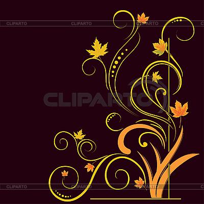 Kwiatowe elementy na jesieni motywu | Klipart wektorowy |ID 3072613