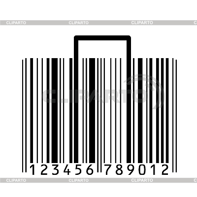 Suitcase stylized with bar-code | Stock Vector Graphics |ID 3072689