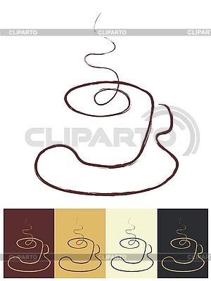 Filiżanka kawy jako logo | Klipart wektorowy |ID 3072910