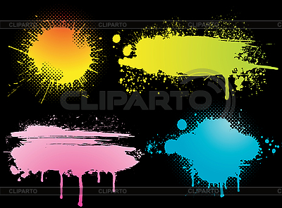 Set of colorful grunge blots | Stock Vector Graphics |ID 3072916