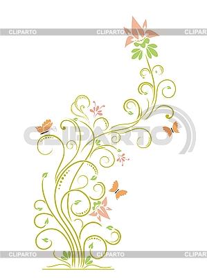 Kwiatowy wzór z motyli   Klipart wektorowy  ID 3073021