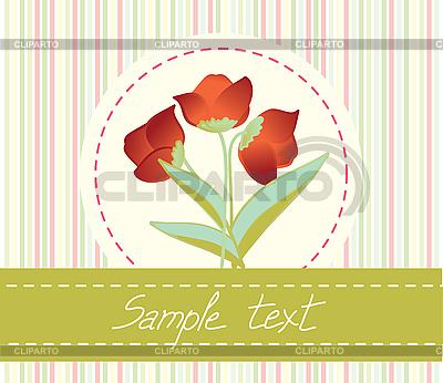 꽃 인사말 카드   벡터 클립 아트  ID 3073045