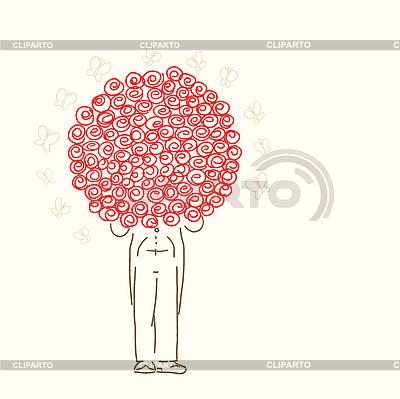 Novio con rosas | Ilustración vectorial de stock |ID 3073087
