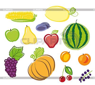 Owoce i warzywa | Klipart wektorowy |ID 3073107