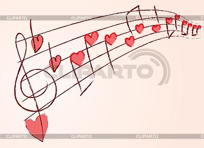 사랑의 음악 | 벡터 클립 아트 |ID 3073278