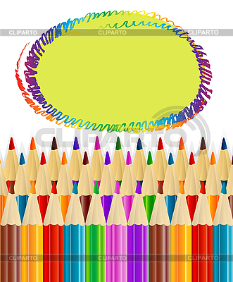 Background with pencils  | Stock Vector Graphics |ID 3073826
