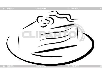 Piece of cake konturu | Klipart wektorowy |ID 3073842
