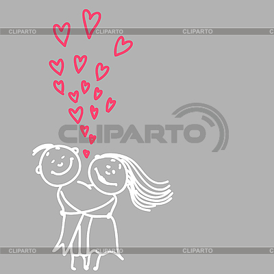 Cute romantic couple | Stock Vector Graphics |ID 3073848