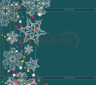 Background with snowflakes | Stock Vector Graphics |ID 3073914