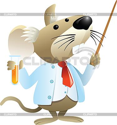 Mysz jako nauczyciel chemii | Klipart wektorowy |ID 3074653