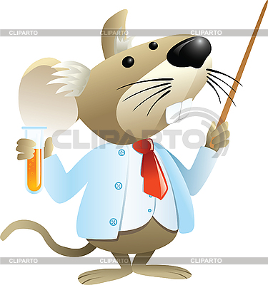 Maus-Chemielehrer | Stock Vektorgrafik |ID 3074653